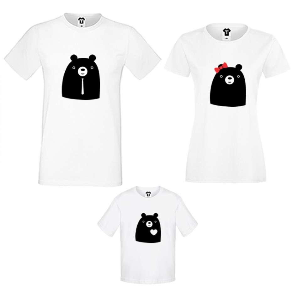 Rodinný set v bílé nebo černé barvě Big Bears