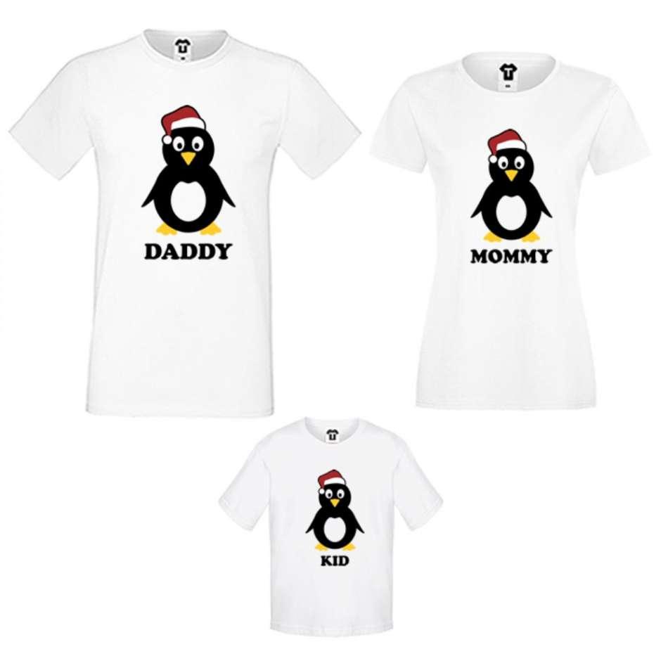 Rodinný set v bílé nebo černé barvě Penguin Family