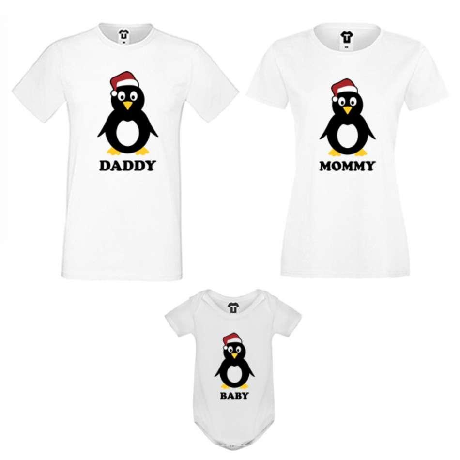 Rodinný set v bílé barvě Penguin Family