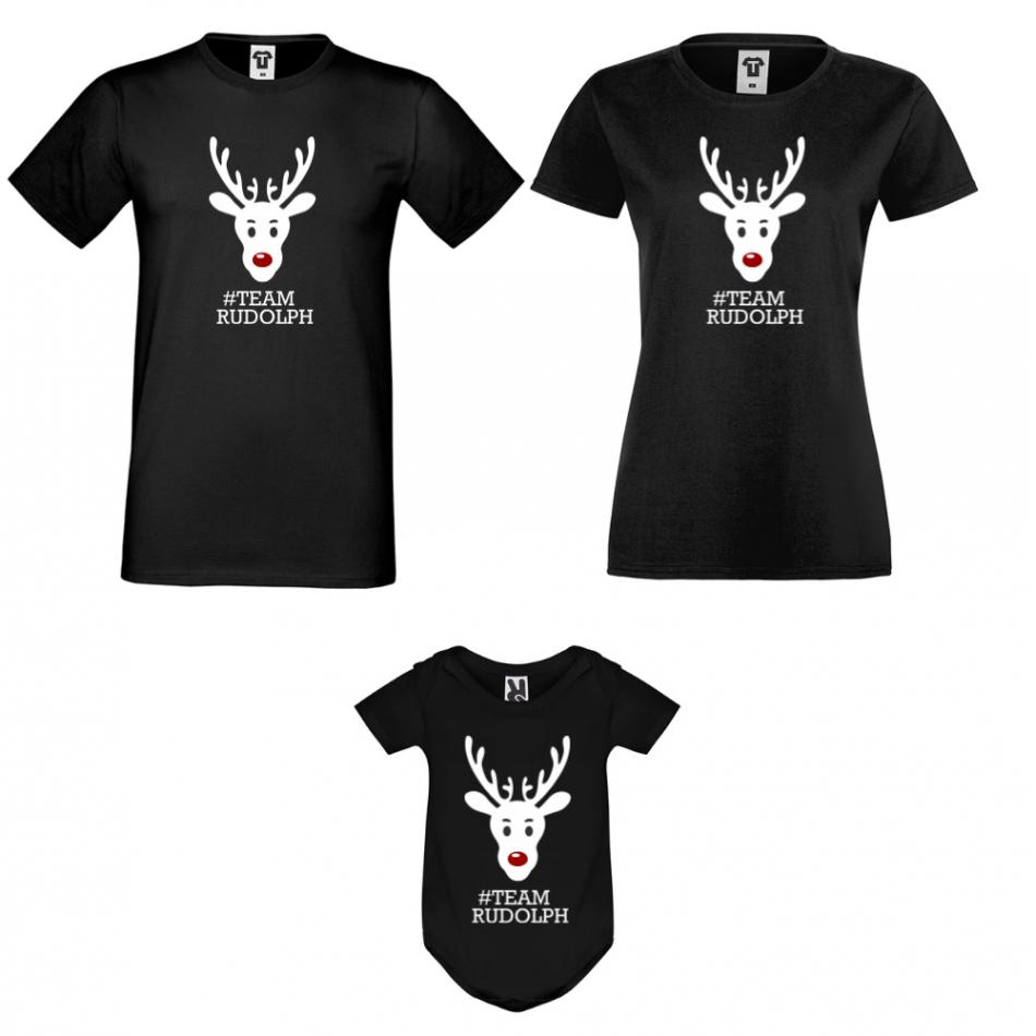 Rodinný set v černé barvě #Team Rudolph