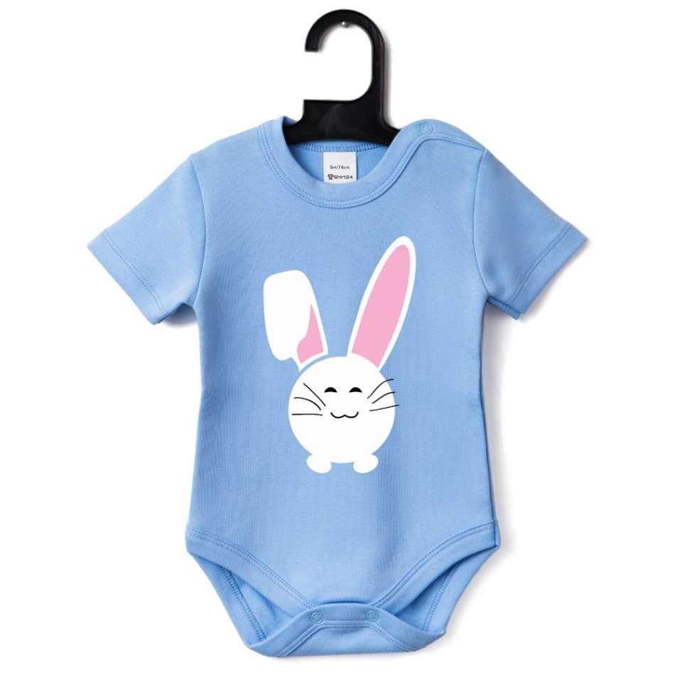 Kojenecké body v různých barvách Bunny Smile
