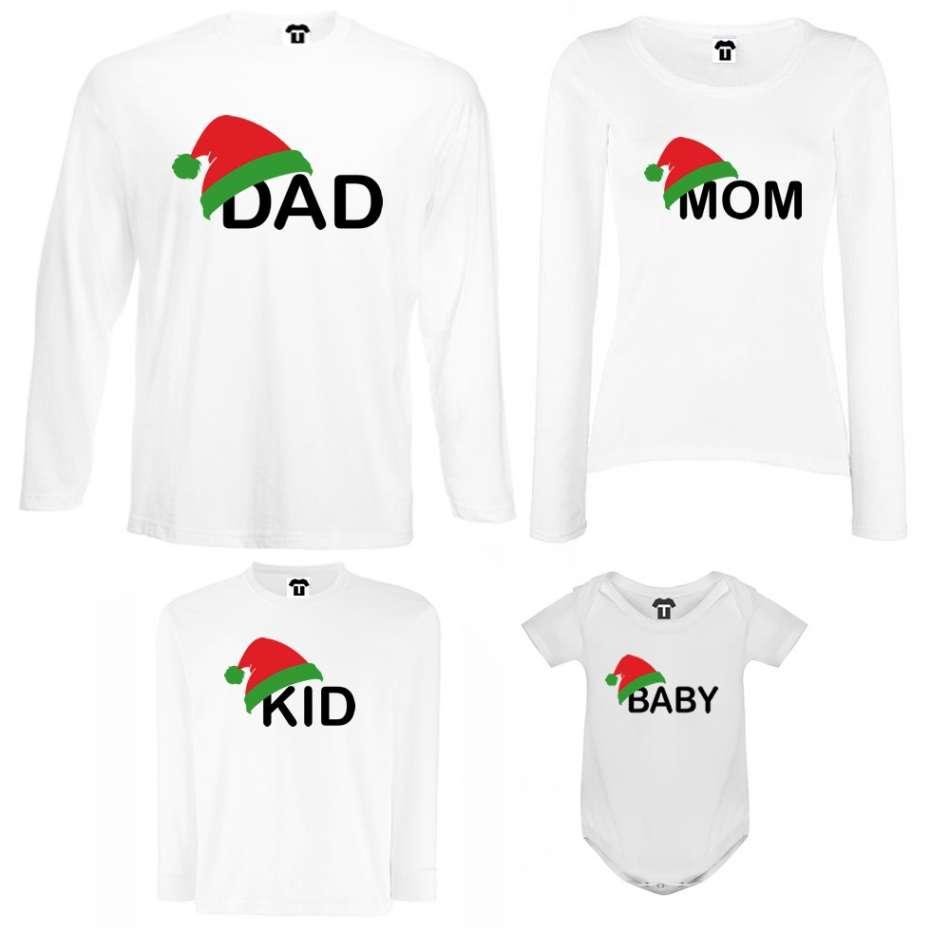 Rodinný set v bílé nebo černé barvě Family Christmas Hats