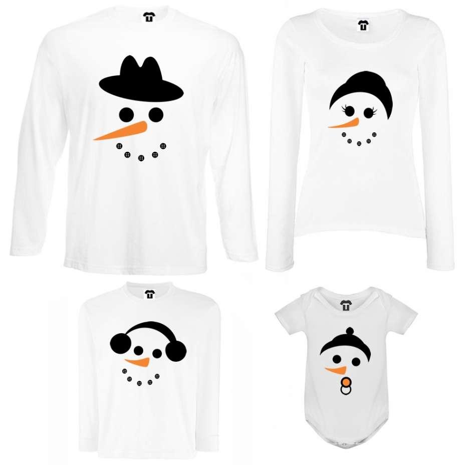 Rodinný set v bílé nebo černé barvě Snow Family
