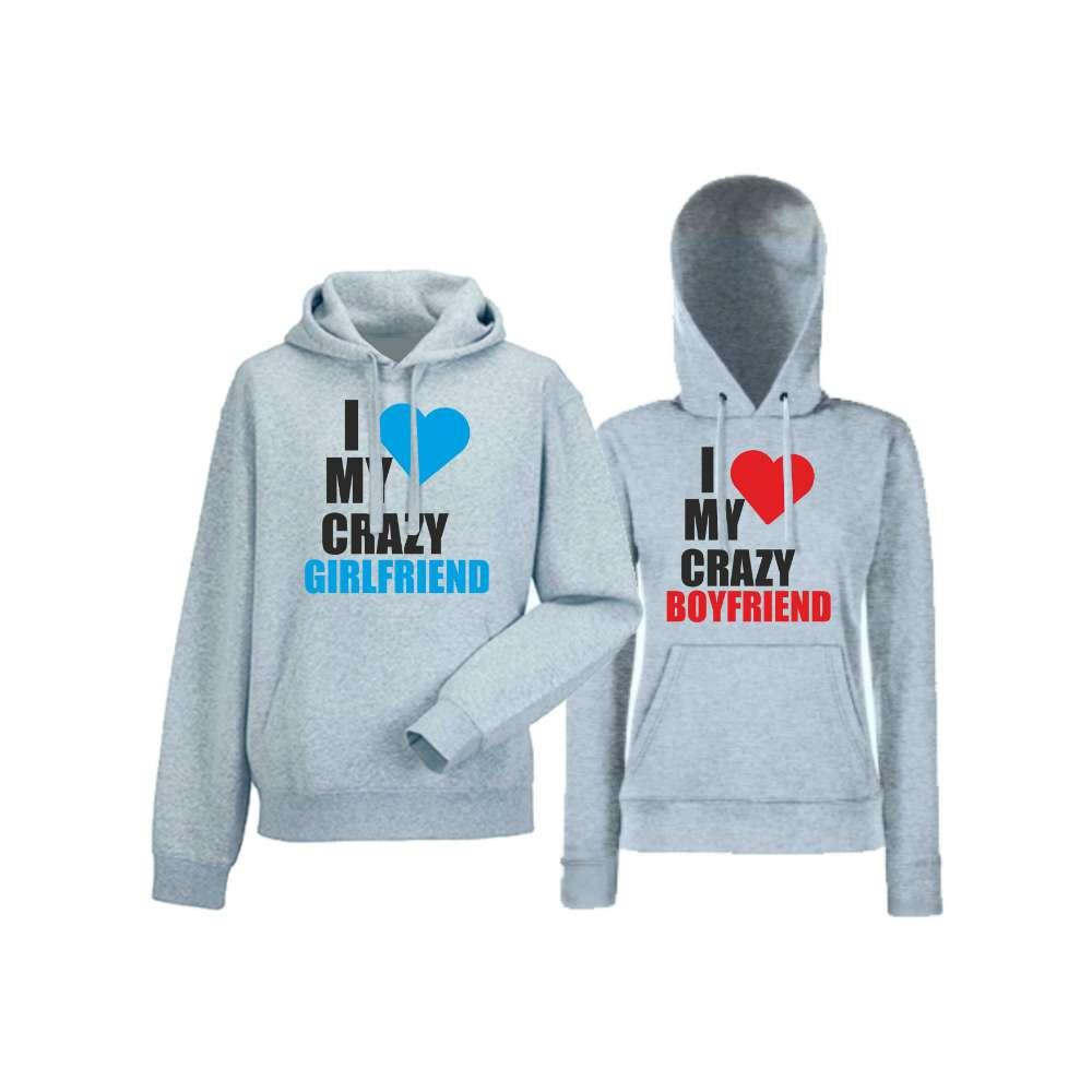 Mikiny pro páry I Love My Crazy  HD-CP-006G
