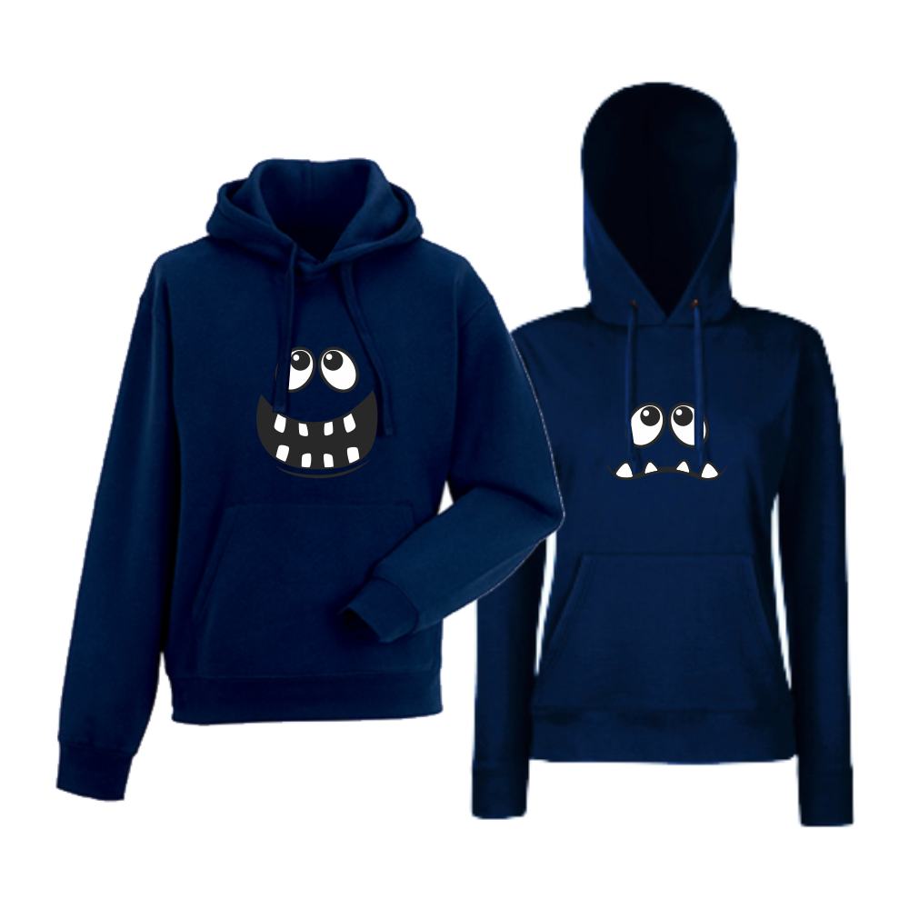 Set tmavě modré mikiny Big Smile HD-CP-012N