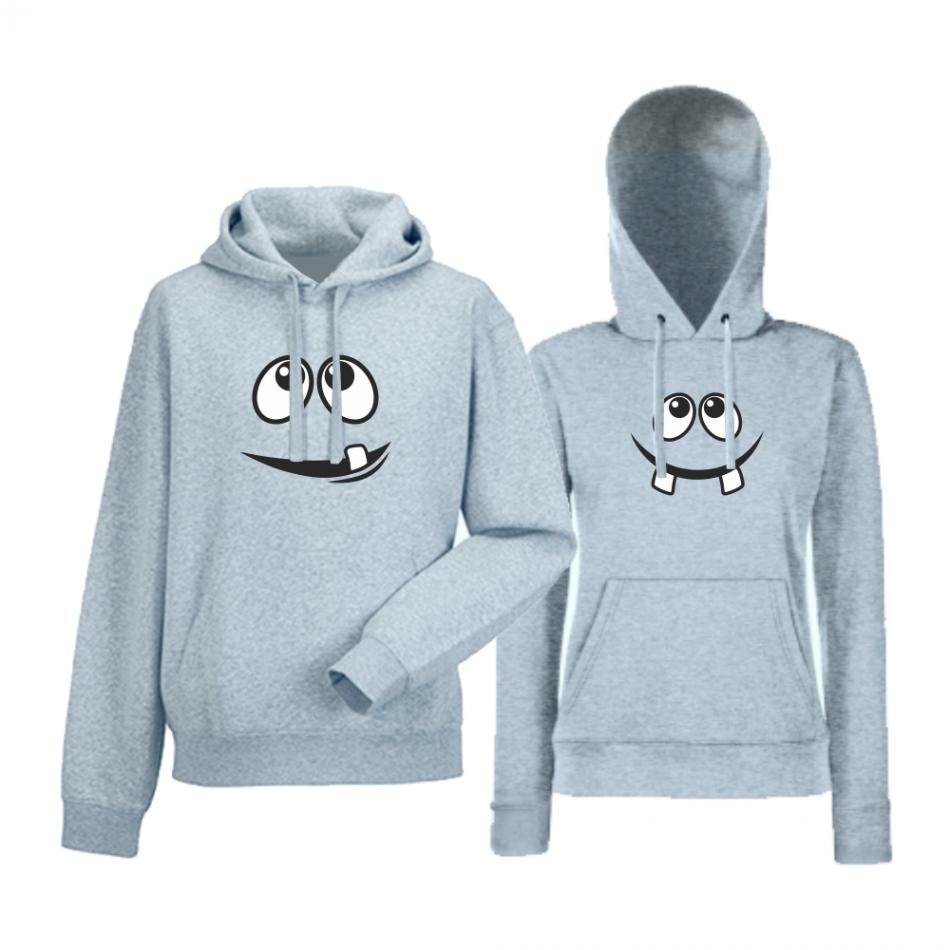 Set šedé mikiny pro páry Smile HD-CP-014G