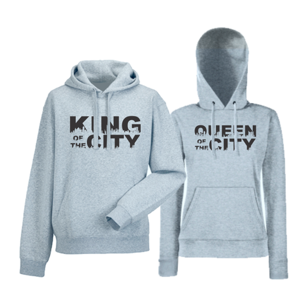 Mikiny pro páry King Queen of the city HD-CP-169G