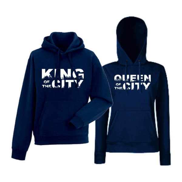 Mikiny pro páry King Queen of the city HD-CP-169N