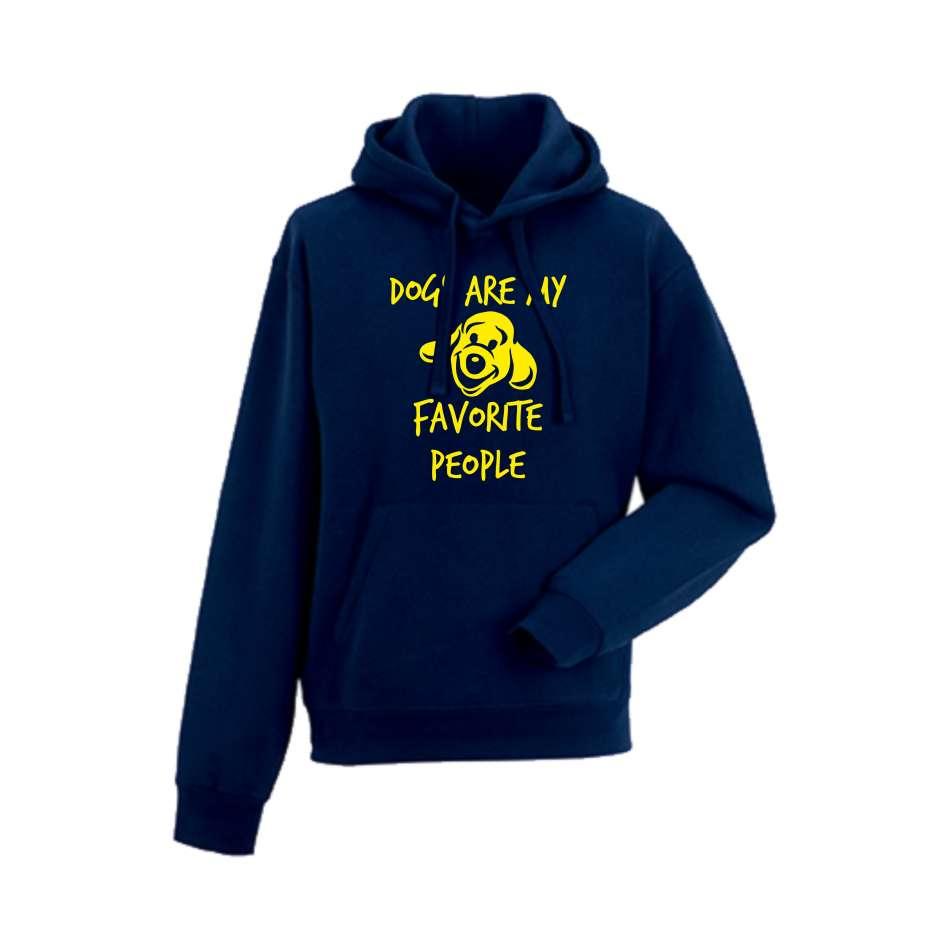 Panska mikina Dogs are my favorite people Tmavě modré  HD-M-133N
