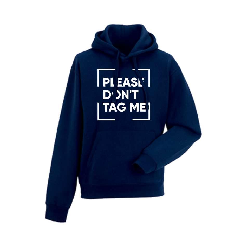 Panska mikina Please Don't Tag me Tmavě modré  HD-M-138N