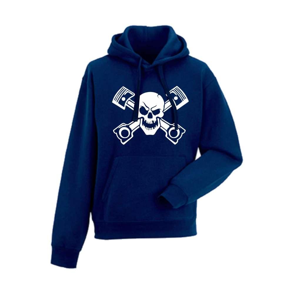 Panska mikina Skull Tmavě modré  HD-M-AU-022N