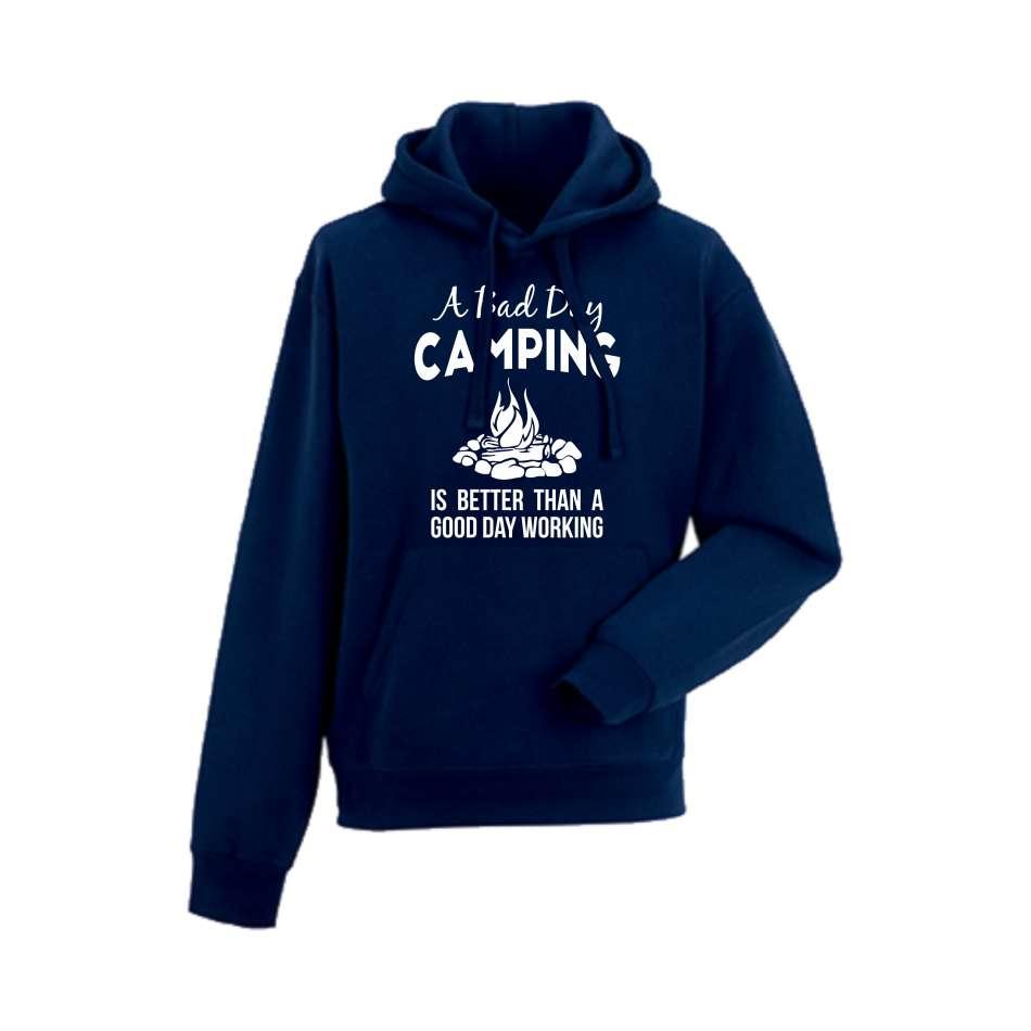 Panska mikina Bad Day Camping Tmavě modré  HD-M-149N