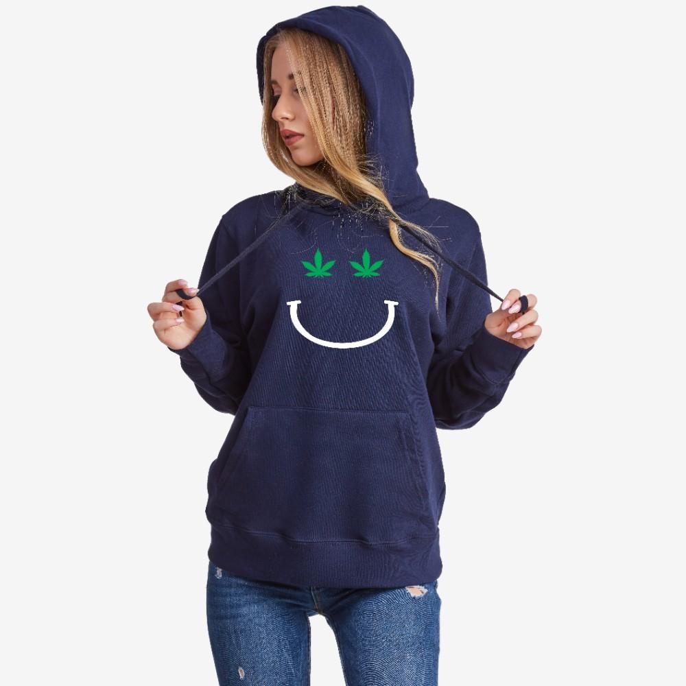Dámská tmavě modrá mikina s kapucí Mary J Smile