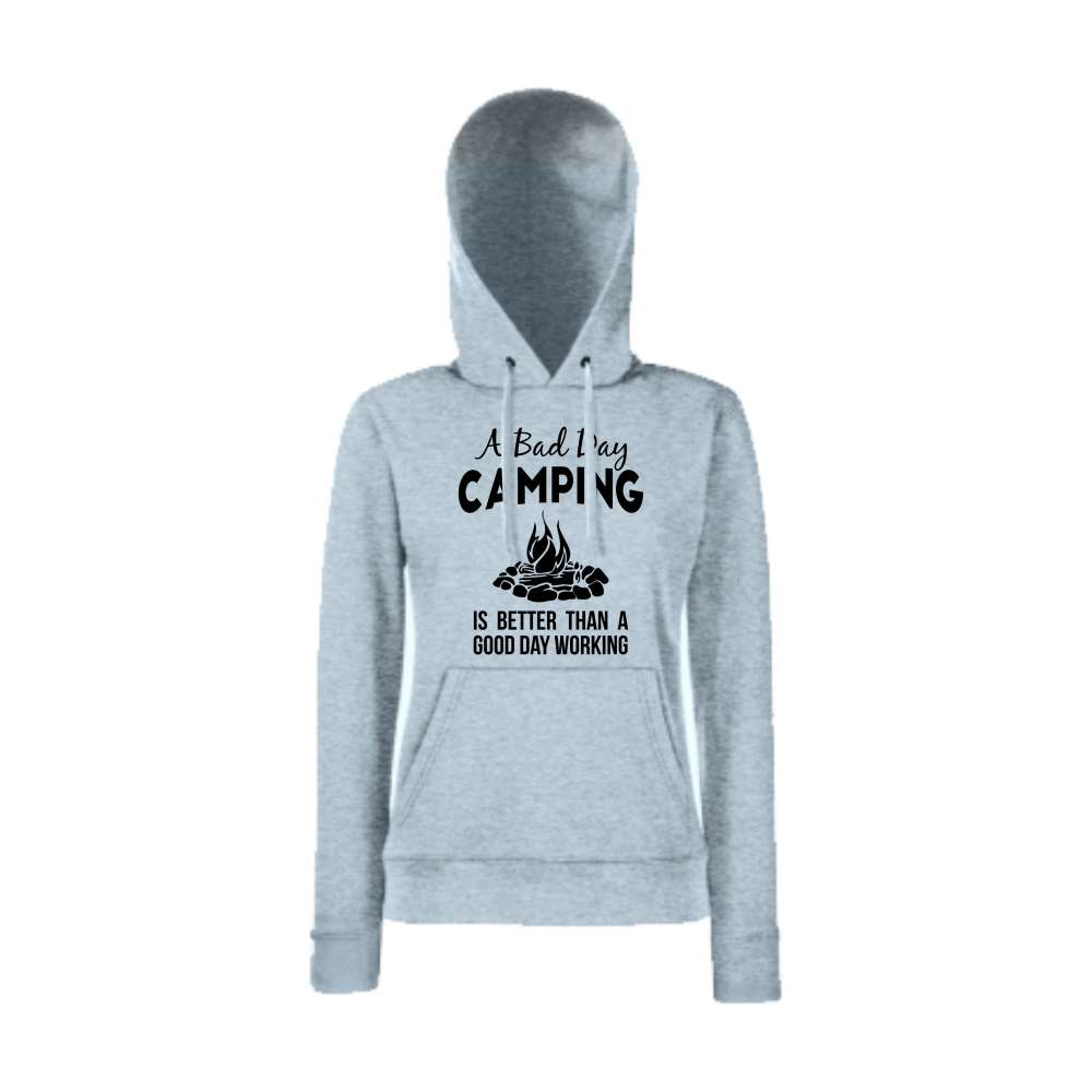 Damska mikina s kapucí Bad Day Camping   HD-W-149G