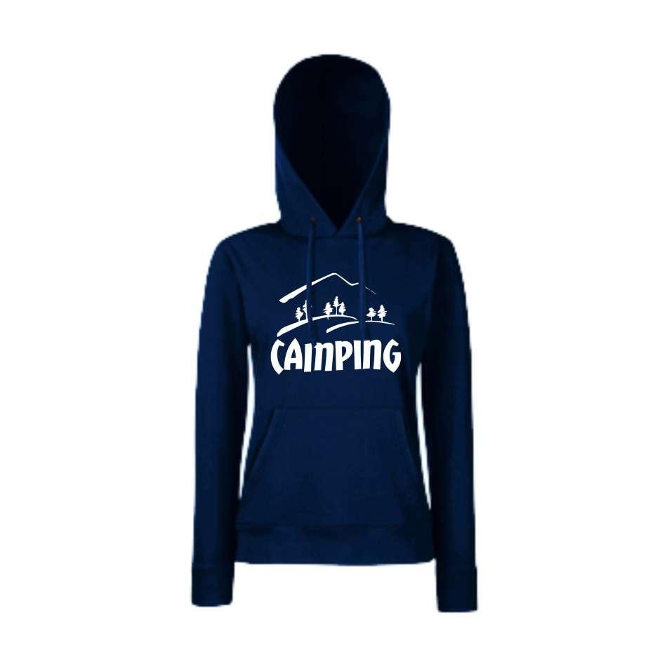 Damska mikina s kapucí Camping Tmavě modré  HD-W-150N