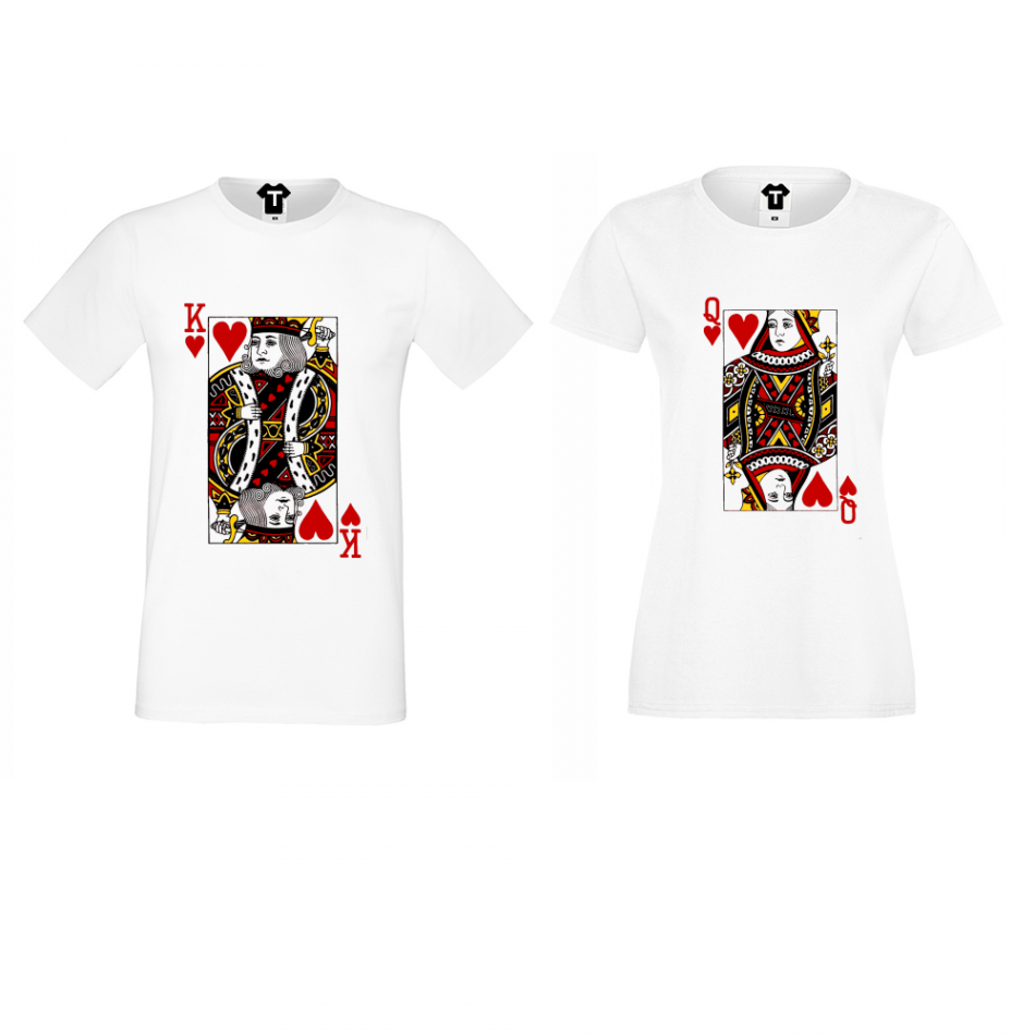 Trička pro páry  King Queen Cards  P-CP-060