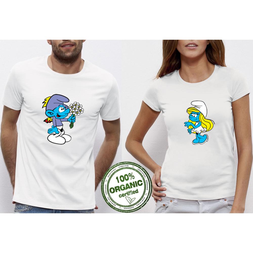 Trička pro páry Smurfs  P-CP-104