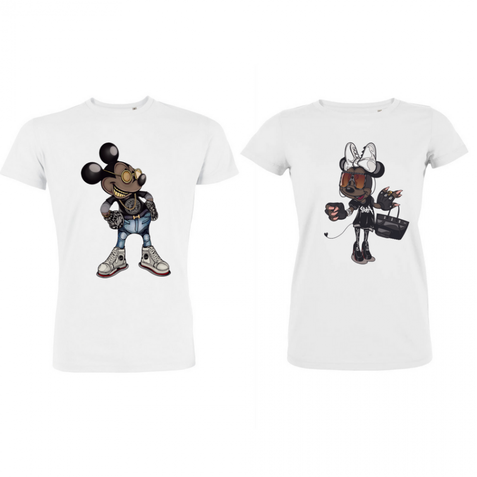 Trička pro pary Mickey - Minnie Modern P-CP-121