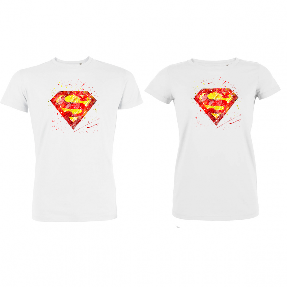 Set trička pro páry SuperMan SuperWoman P-CP-190