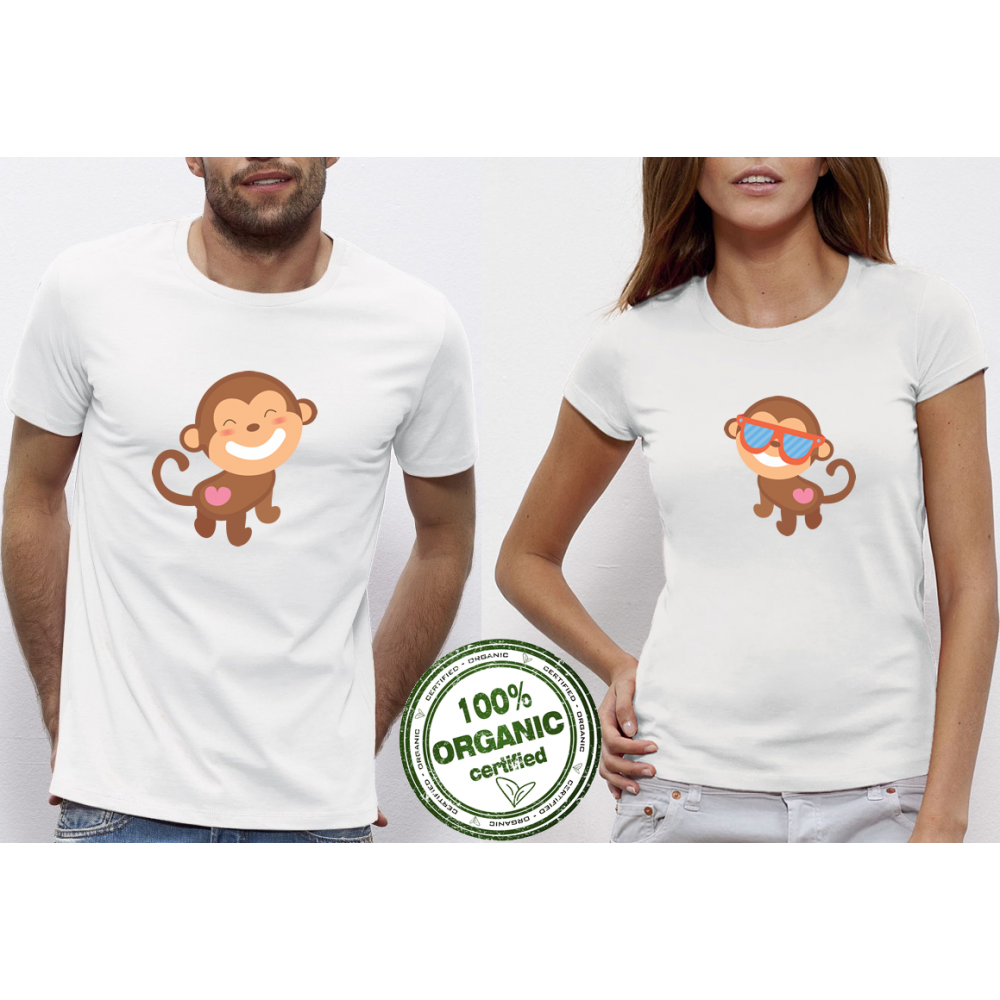 Trička pro páry Monkey in Love P-CP-075