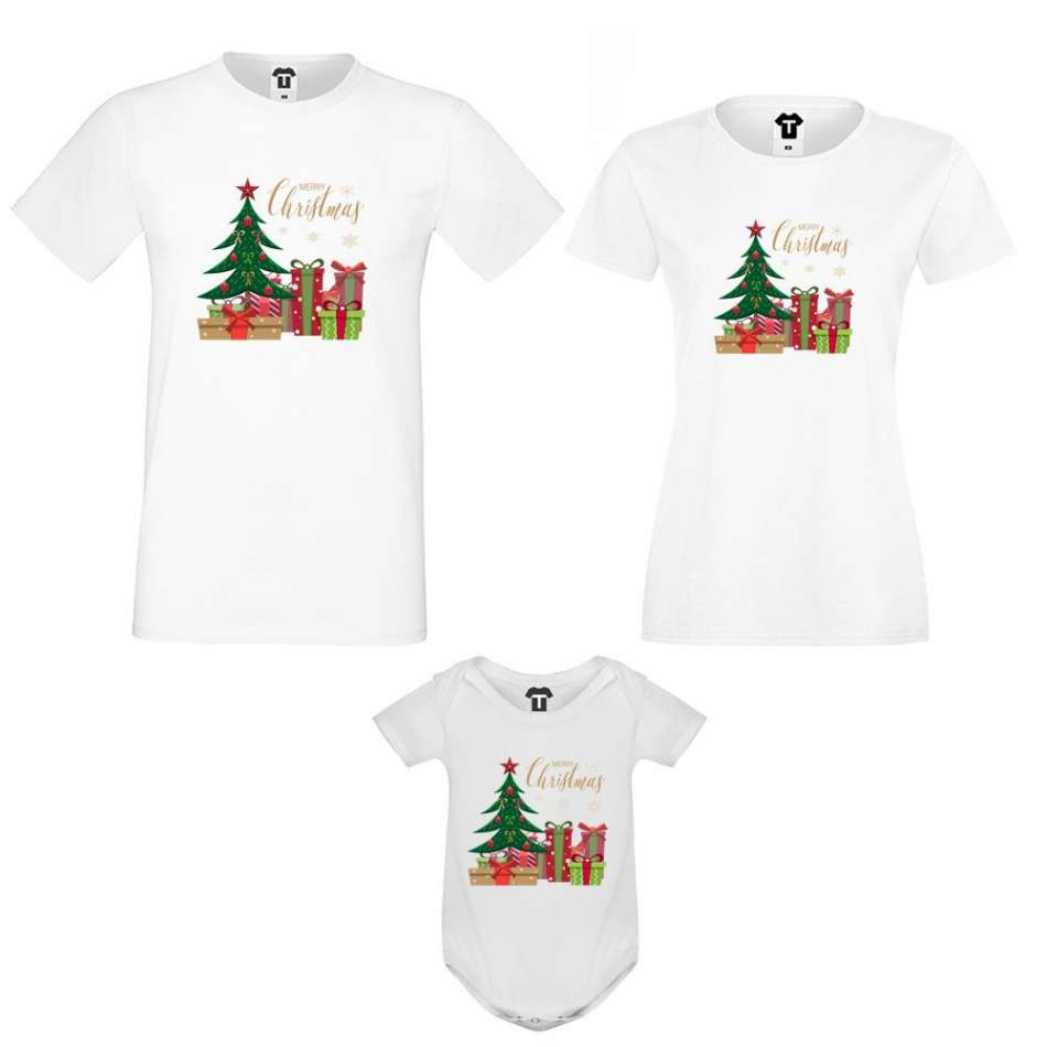 Set matka, otec a dítě Merry Christmas Gifts