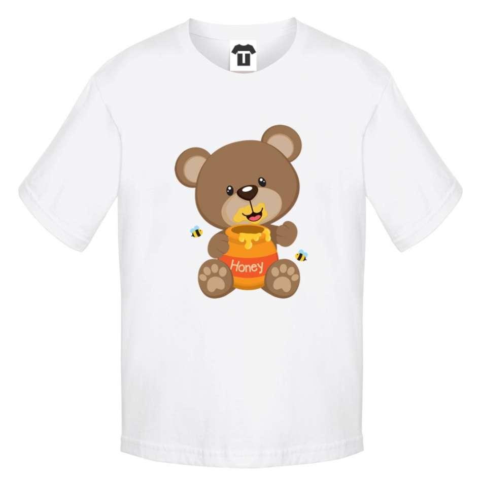 Dětské bílé tričko Bear Honey