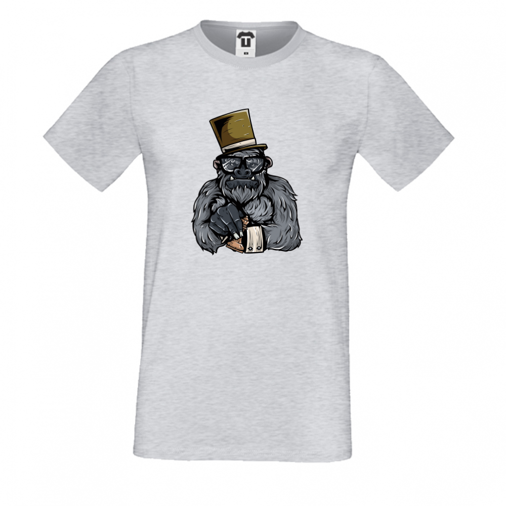 Pánská trička Šedé Monkey P-M-024G