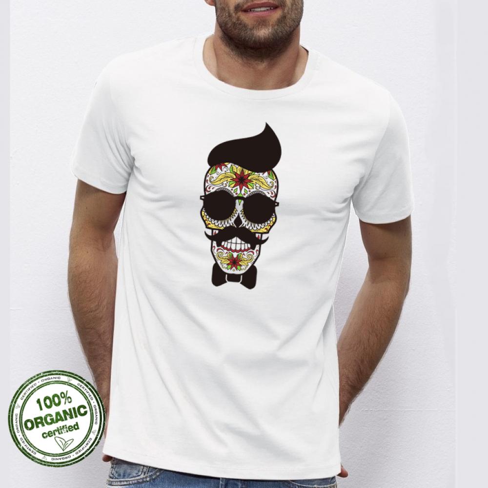 Pánská trička Hipster Skull P-M-027