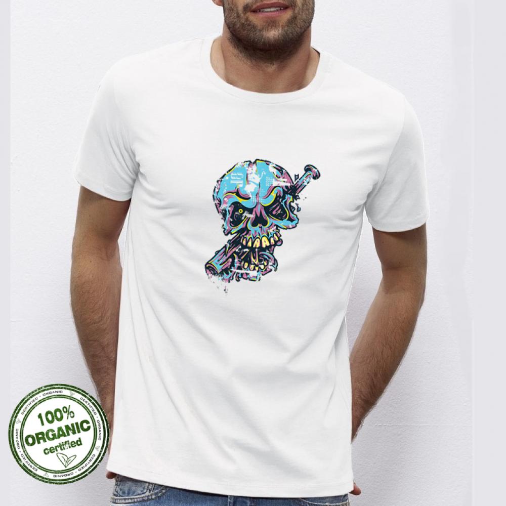 Pánská trička Blue Skull P-M-029