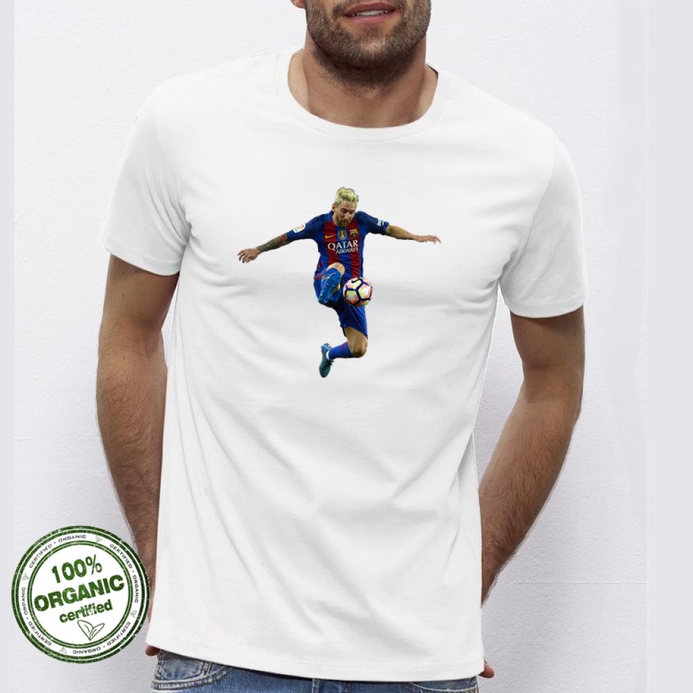 Pánská trička Simpson Messi Photo P-M-038