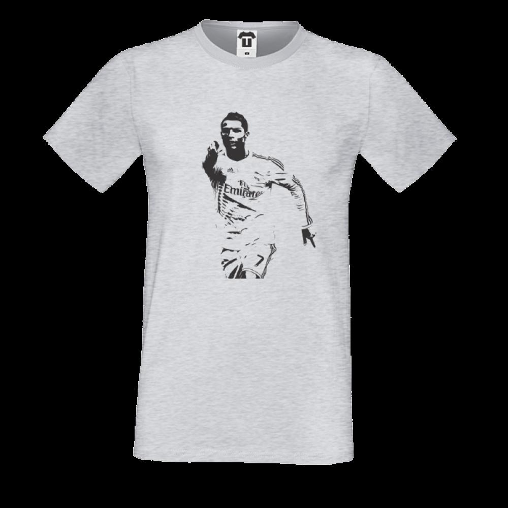 Pánská trička Šedé Ronaldo P-M-077G