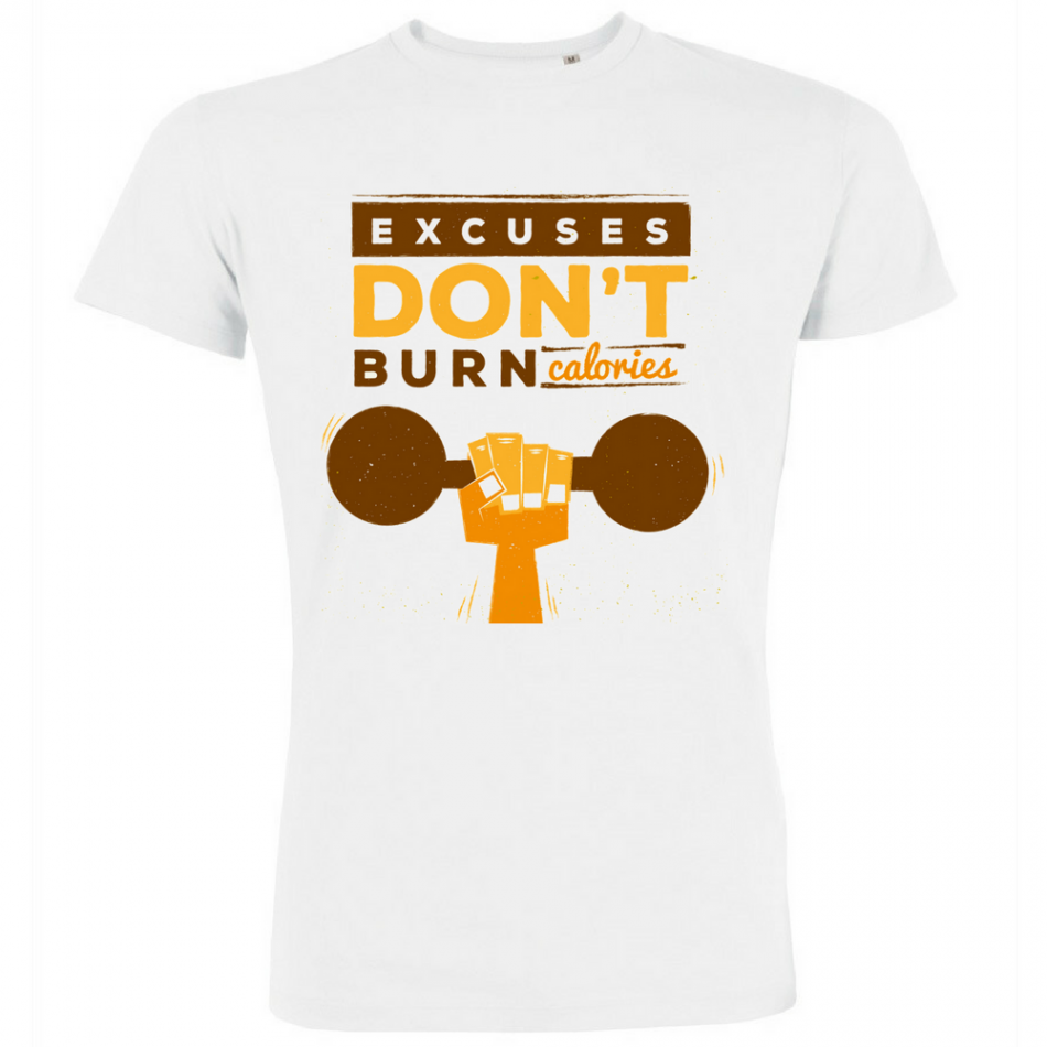 Pánská trička Excuses Don't Burn Calories P-M-139