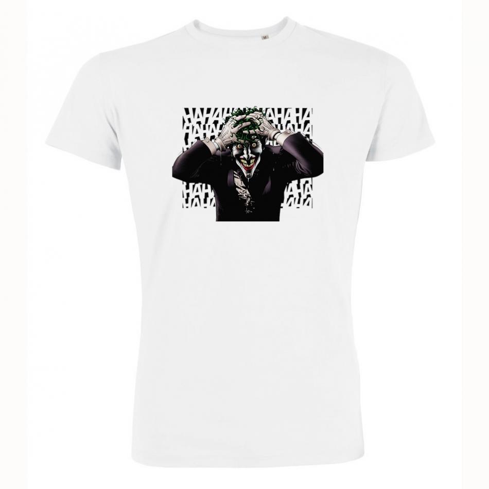 Pánské tričko Bílé Joker Hahhaahahah P-M-186