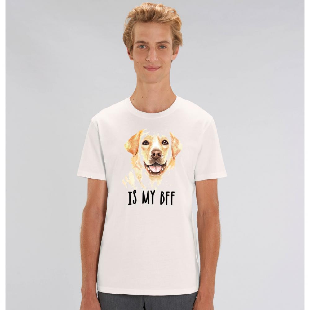 Bílé pánské tričko ze 100% organické bavlny  Dog BFF