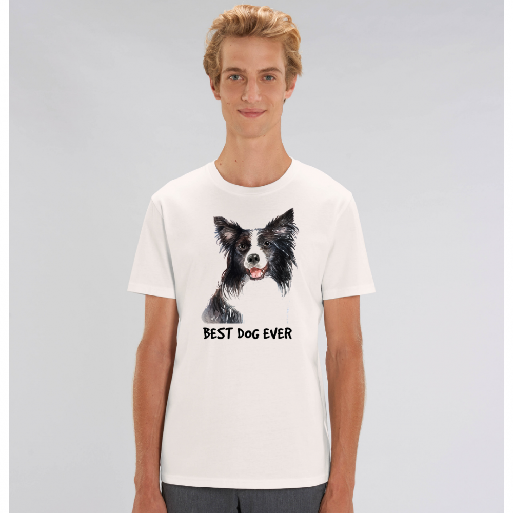 Bílé pánské tričko ze 100% organické bavlny Best Dog ever