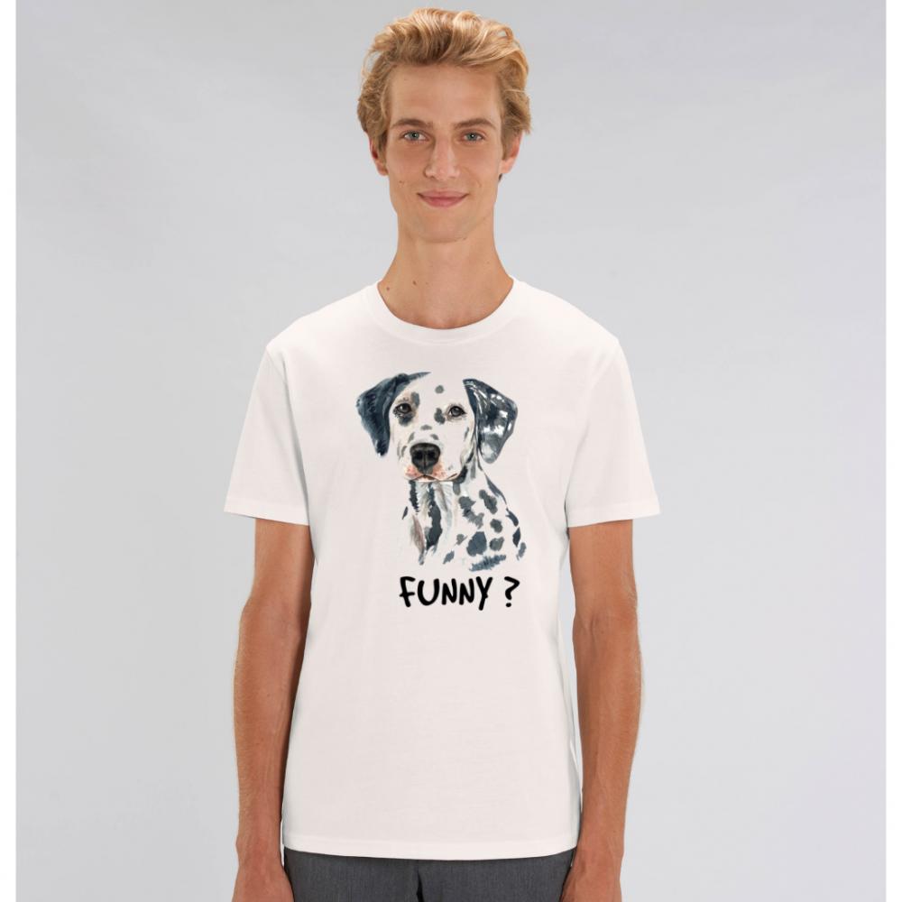 Bílé pánské tričko ze 100% organické bavlny Funny Dog