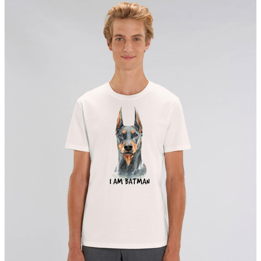 Bílé pánské tričko ze 100% organické bavlny I am Batman Dog