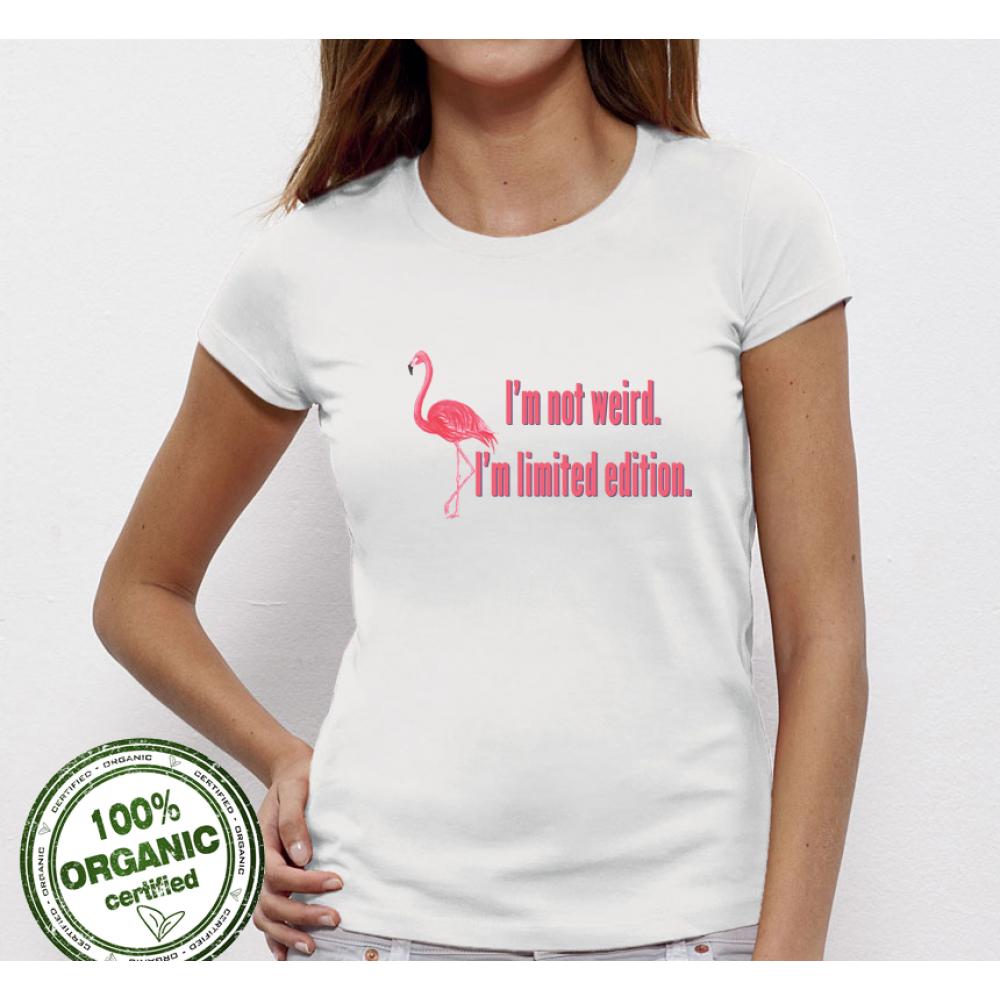 Dámské tričko I am not Weird Flamingo P-W-002