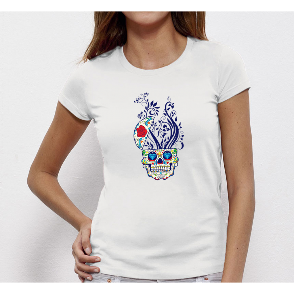 Dámské tričko Colorful Skull  P-W-020