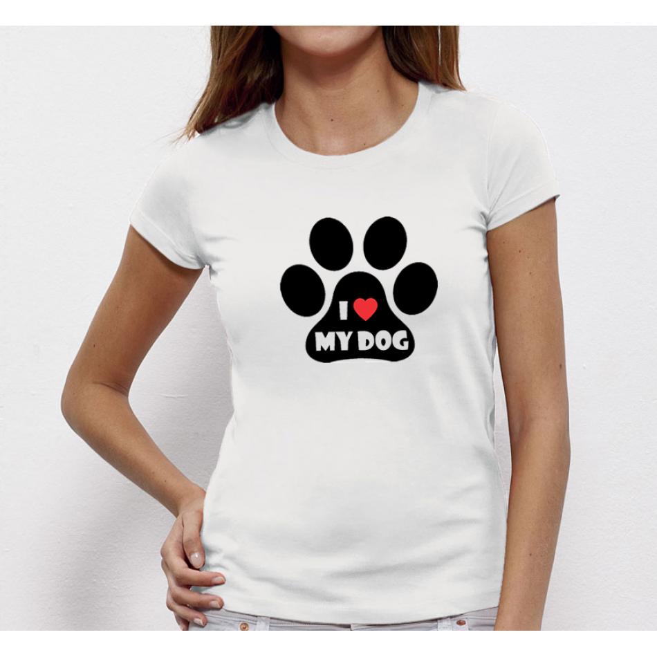 Dámské tričko I LOVE MY DOG P-W-021