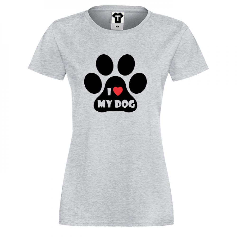Dámské tričko I LOVE MY DOG P-W-021G