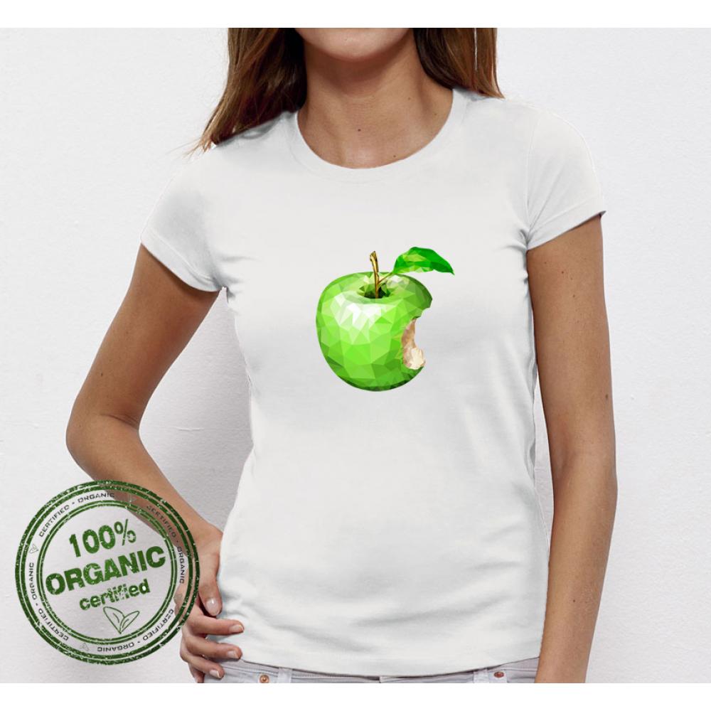 Dámské tričko Green Apple P-W-045