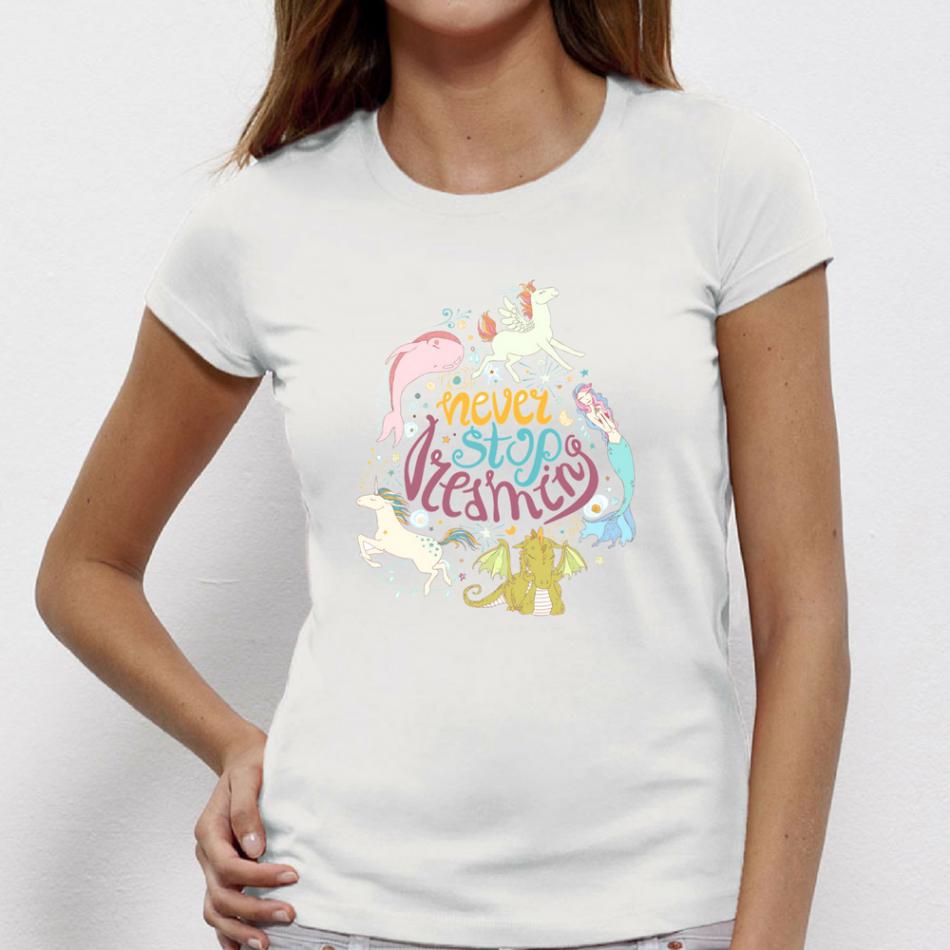 Damské tričko Never Stop Deaming P-W-142