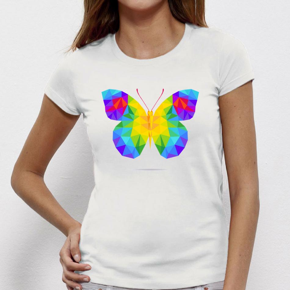 Damské tričko Butterfy Polygonal P-W-146