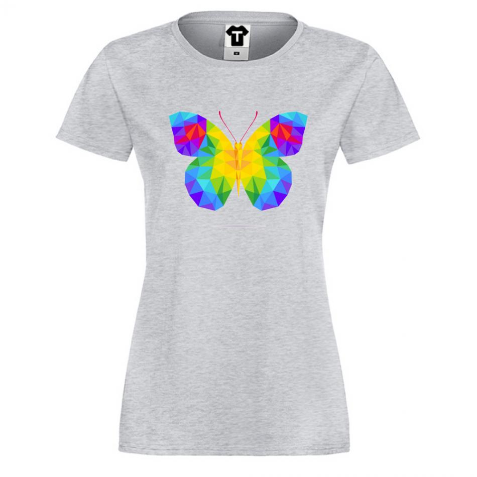 Damské tričko Butterfy Polygonal P-W-146G