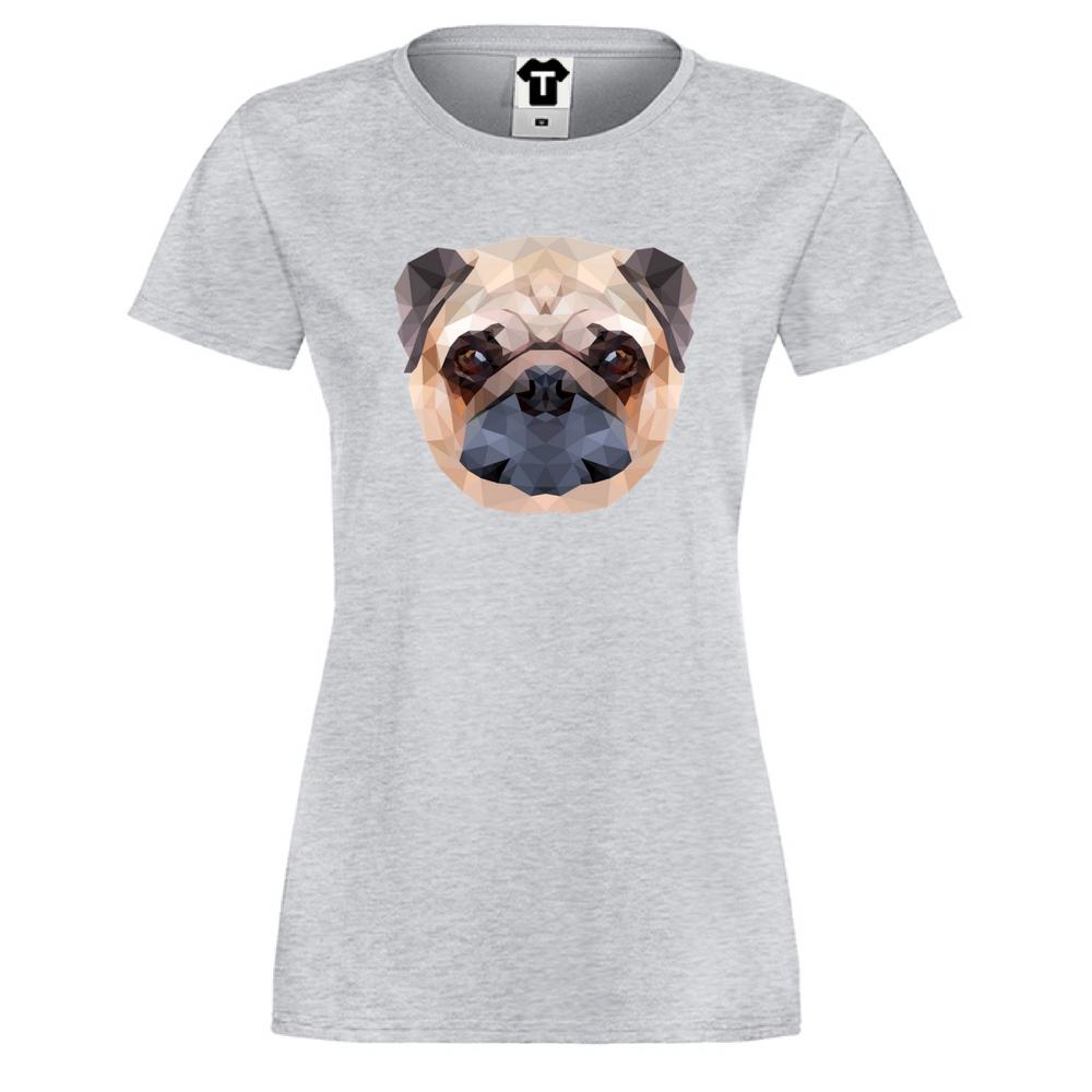 Damské tričko Dog Polygonal P-W-147G