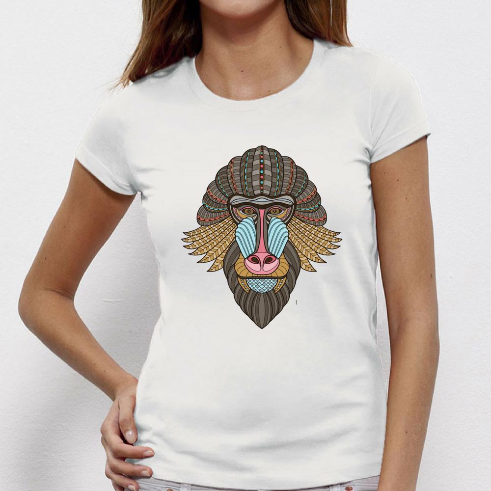 Damské tričko Tribal baboon P-W-150
