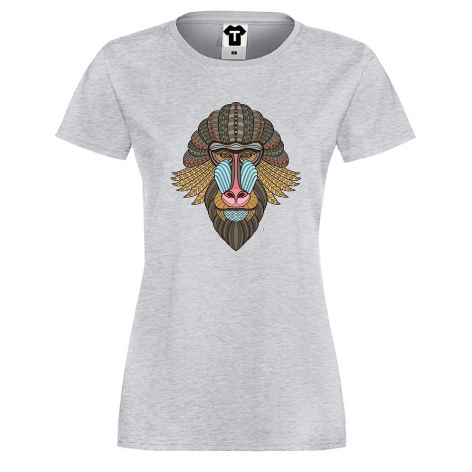 Damské tričko Tribal baboon P-W-150G