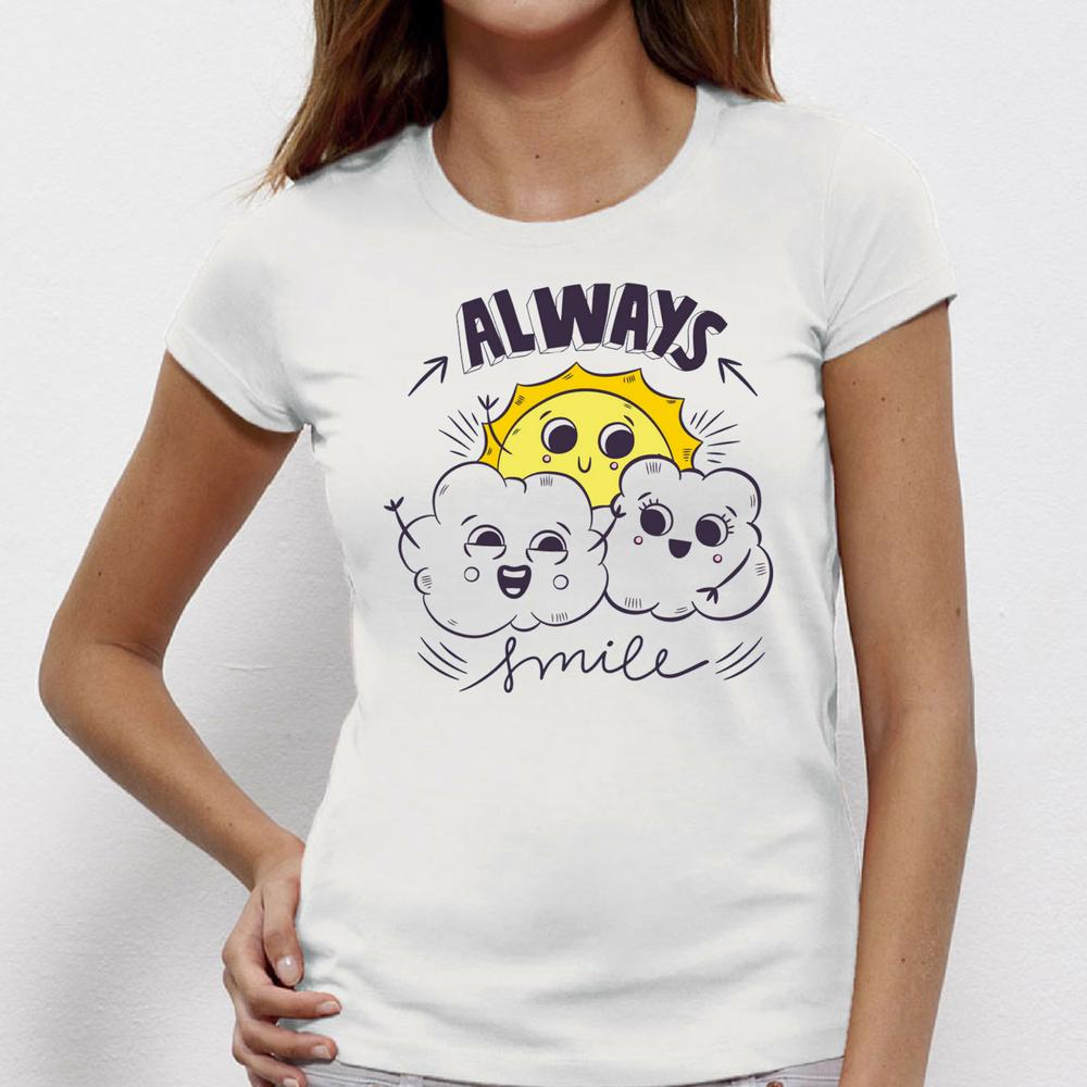 Damské tričko Always Smile P-W-165