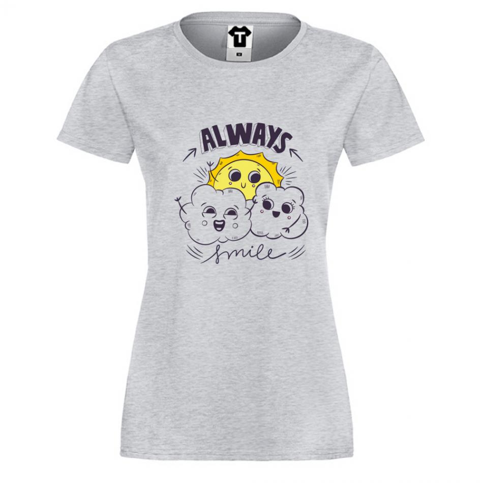 Damské tričko Always Smile P-W-165G